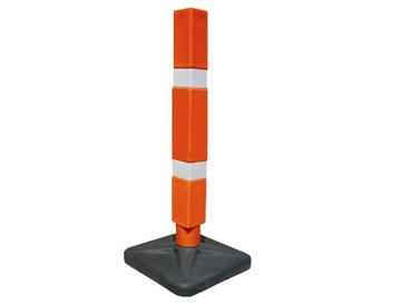 Balizador de trânsito quadrado