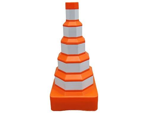 cone barril de sinalização