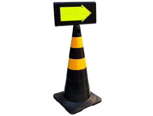 seta cone para sinalização de trânsito