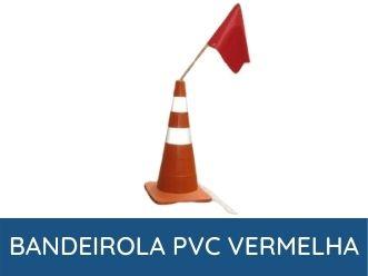 bandeirola de pvc vermelho