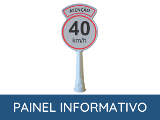 painel informativo para cone de sinalização